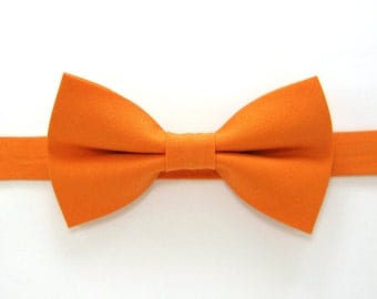 orange bow tie etsy