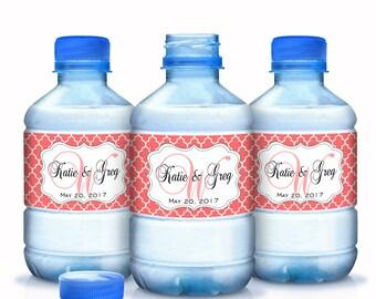 Wedding Water Bottle Labels, Monogram Water Bottle Labels, Bottled Water Labels, Wedding Water Labels, Welcome Wedding Bags, Custom Color