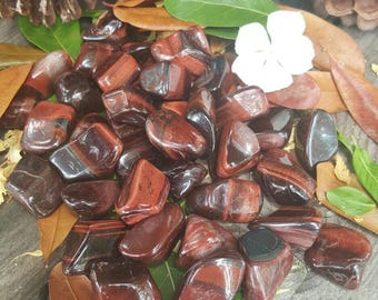 Red Tigers Eye, Red Tiger's Eye, Tumbled Stone