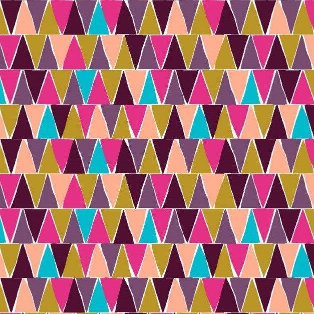 Triangle print cotton jersey knit fabric cotton jersey for Knit fabric childrens prints