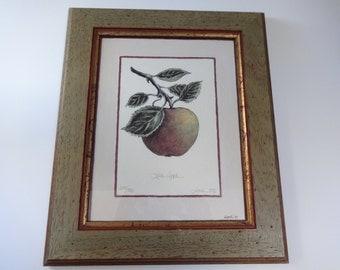 Art, Framed Art, Set of Four Framed Prints, Framed Prints, Fruit Art, Fruit Prints, Framed Fruit Prints, Set of Four Prints, Decorative Art