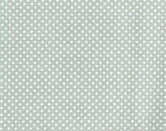 Au Maison oilcloth dots verte green dots coated cotton
