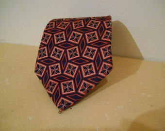 Silk Neck Tie, Silk Tie, Vintage Silk Neck Tie, Men's Neck Tie, Intex of London