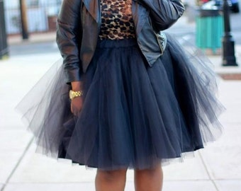 Plus Size Tulle Skirt in 60 Different Colours/ Quality Circle Tulle Plus Skirt