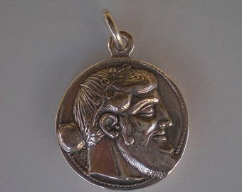 For Sale Dionysus Bacchus Satyr Silver Pendant - Phallus - Dionysos God of Wine