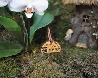 Fairy Garden Sign+Fairy Garden Miniature