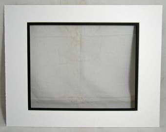 Double Mat Board 11x14 to fit 8x10 White and Black