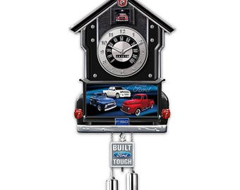 Ford F-Series Wall Cuckoo Clock - Lights up with sound! by Bradford Exchange