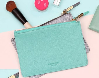 Personalised Leather Make Up Bag (HBL20/135Y)