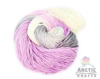 Haunted heart Iris,Hand dyed worsted/Aran weight yarn. 100% merino, Alpaca/silk