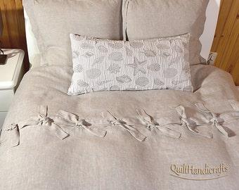 "Long Decorative Pillow, Rectangular Crush Pillow, 16x30"",Natural softened linen,stonewashed, prewashed pure linen,Sofa Cushion, Couch Pillow"