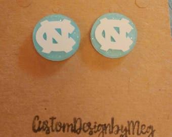 Tarheel earrings, Carolina, UNC earrings