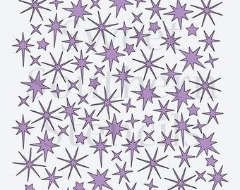 Sparkles or Stars Background Cookie Stencil