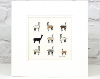 Alpaca art print, alpaca print, art print, alpaca wall art, alpaca wall decor, animal lover gift, home decor, modern farmhouse, new home