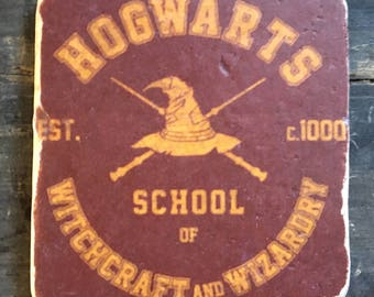 Hogwarts School of Witchcraft and Wizardry Coaster or Decor Accent