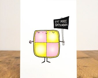 Eat more Battenberg Print
