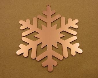 Copper Snowflake Christmas Ornament, Christmas Ornaments, Christmas Decoration, Christmas Decor, Tree Ornament, Snowflake, Laser Cut