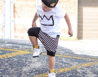 Black toddler harem shorts / Hipster baby boy shorts / Hipster boy clothing / Trendy Baby harem shorts / Hipster toddler boy shorts