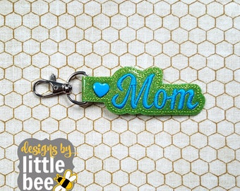 mother, mom snap tab - mother's day mom keychain design - key fob, keychain ITH design - machine embroidery design - 04 28 2017