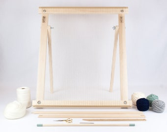 Frame Loom with Stand Weaving Kit Moss/Navy