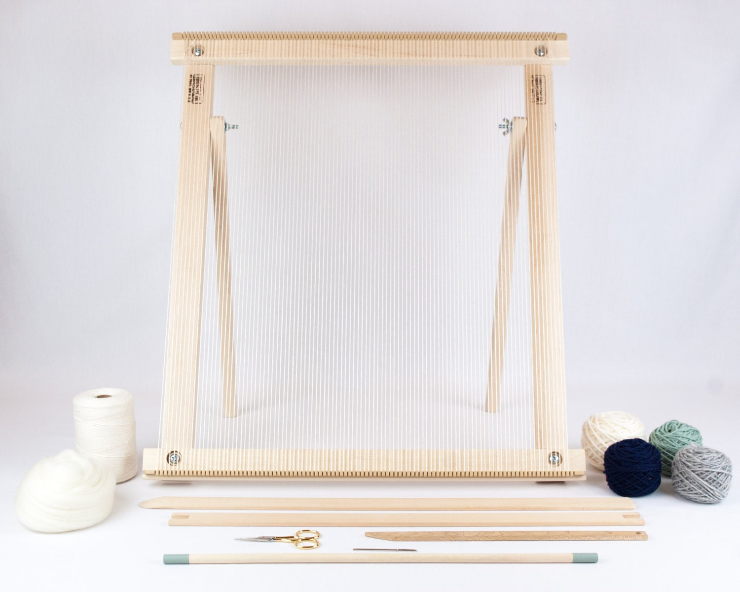 frame loom with stand weaving kit mossnavy