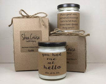 You Had Me At Hello// Love Quote Gifts // Add Personalized Message // Gift