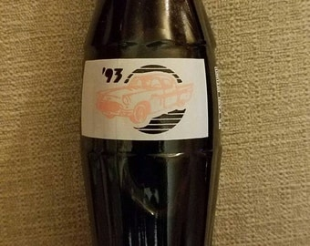 Hot August Nights Reno 1993 Coke 8oz. Bottle, Pink Thunderbird, Unopened, Free Shipping