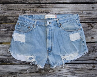 Vintage LEVI'S Cut Off Jean Shorts