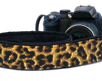 Cheetah Camera Strap. Yellow Leopard Camera Strap. DSLR Camera Strap. Camera Accessories