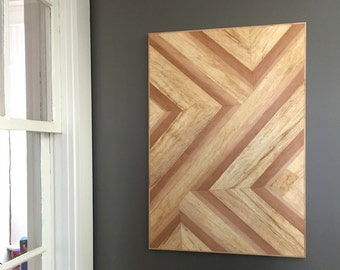 Wood Wall Hanging geometric wood art | etsy
