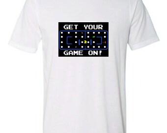 Retro Gaming Arcade T-shirt. Pac-man. Donkey Kong. Frogger. Mario. Space Invaders
