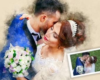 Wedding Portrait, Custom Watercolor, Custom Portrait, Painting from Photo, Watercolour Painting, Custom Art, Wedding Painting, Wedding Paint