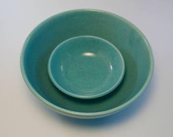 Laurel of California Turquoise Blue Speckled Bowl Set of 5
