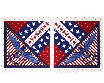 CLEARANCE Patriotic Panel / andover fabrics 7786 Quilt Panel / quilt panel / Cotton Fabric / Quilt Top Panel