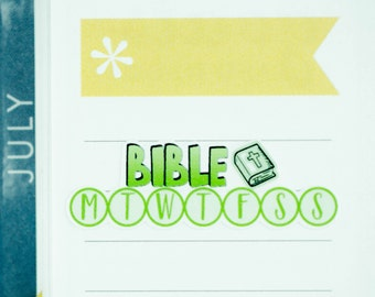 36 Daily Habit Stickers | Planner Stickers designed for use with the Erin Condren Life Planner | 0670