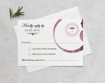 Winery Wedding RSVP