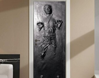 Han Solo Door And Wall Decal In Carbonite Star Wars Wall Art Star Wars Characters Millennium Falcon Chewbacca Return Of the Jedi, e02
