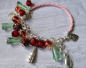 Boho Jewelry Boho Bracelet Beaded Bracelet  Leather Bracelet Charm bracelet Gift Bohemian Jewelry BOHEMIAN  Stackable bracelet Summer Beach