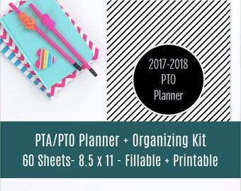 Perfect PTA / PTO Planner & Organizing Kit, Printable Organizer and Planner, DIY planner