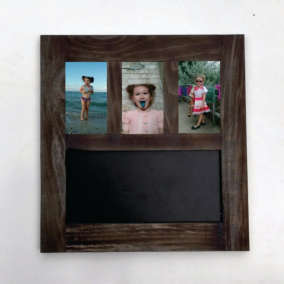triple pane picture frame with chalkboard combo available sizes 4x6 5x7 and 8x10 from. Black Bedroom Furniture Sets. Home Design Ideas