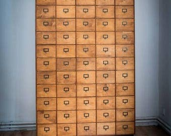 Haberdashery apothecary library bank of drawers (chest of drawers)