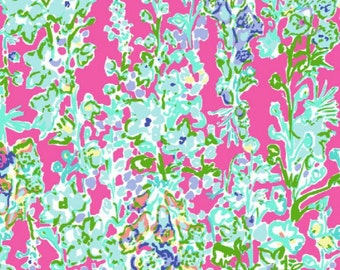Customize My Applique with this Lilly Pulitzer Print /Southern Charm Print and Coordinating Threads