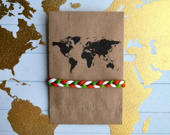 World Explorer Collection - Handmade Braided Friendship Bracelet - Countries of the World!
