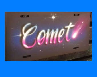 Custom name design airbrushed license plate, personalized license plate, front vanity plate, customized license plate, michigan, state