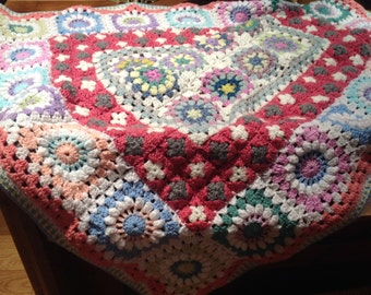 Afghan, Bed cover, Throw, Wrap.