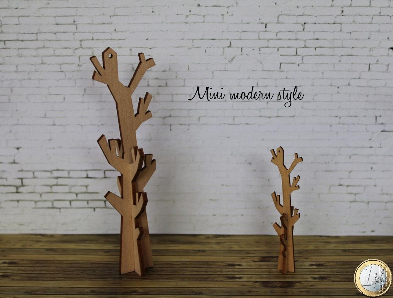 Appendiabiti ad albero in legno in scala 1 12 per case di for Appendiabiti albero