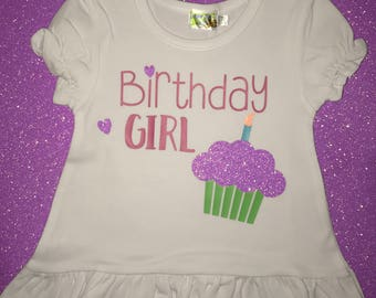 Birthday Girl Shirt, Girl's Birthday Tee, Personalized Birthday Shirt