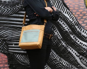 Leather Messenger Bag, iPad Womens Messenger Bag, Leather Crossbody Bag, Leather