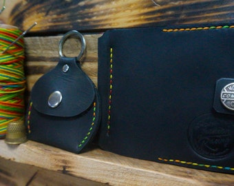 Leather Kit, Leather change purse, hand stitched leather, Wallets Holders Coin Purses & Money leather clip wallet for those who like cash
