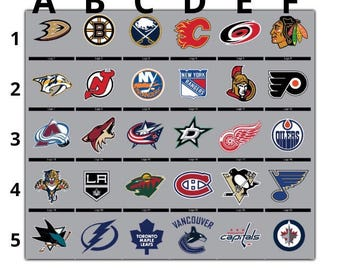 NHL Hockey Logos Vinyl Decal Many Sizes Available Buy 2 get 1 free of equal or lesser size!